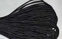 Резинка шляпная / канат черная 50ярд китай
