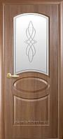 Двери межкомнатные Новый Стиль Фортис deluxe Овал с матовым стеклом и рисунком, фото 1
