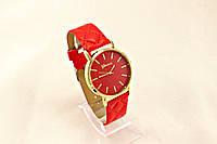 Женские часы Geneva  Красный,ремешок узор ромб, в Одессе