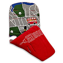 "Аксессуар к коляске «Maclaren» (ADN18312) вкладыш, цвет ""London City Map Scarlet / Multi"""