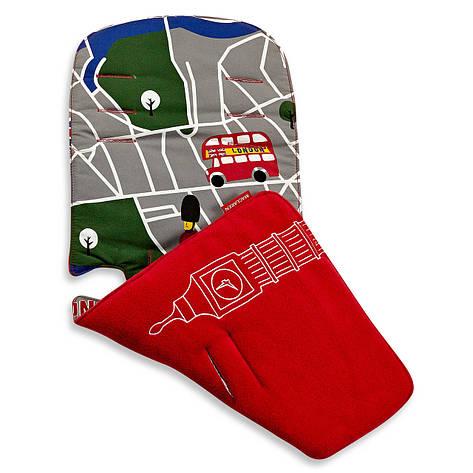 "Аксессуар к коляске «Maclaren» (ADN18312) вкладыш, цвет ""London City Map Scarlet / Multi"", фото 2"