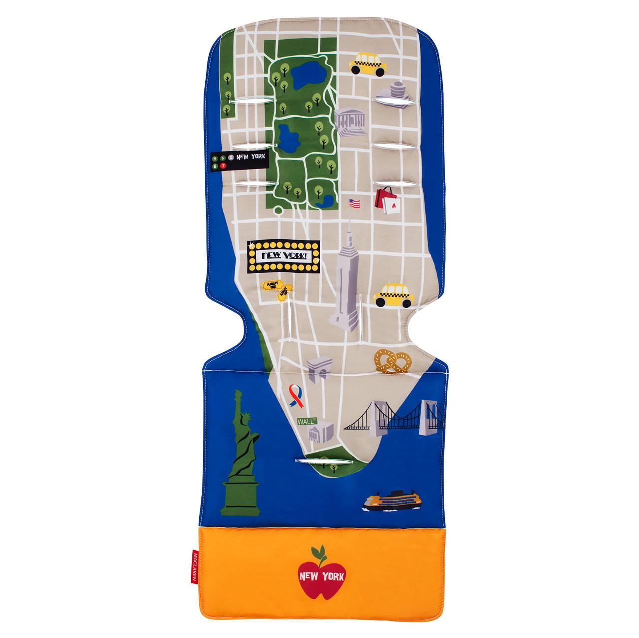 """Аксессуар к коляске «Maclaren» (AM1Y031932) вкладыш, цвет """"New York City Map"""""""