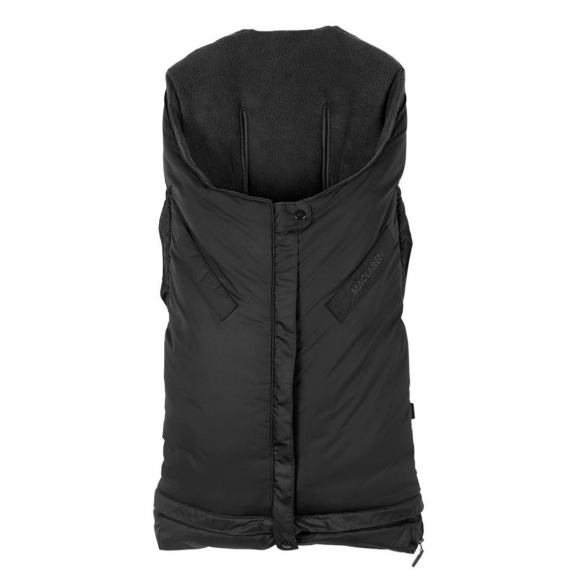 """Аксесуар до візка «Maclaren» (ASE09012) теплий конверт удлинняемый, колір """"Black"""" (чорний)"""