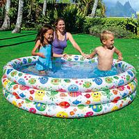 """Бассейн надувной для детей Intex 56440 """"Семейный Конфетти"""" 168*40см, бассейн детский, бассейн для дачи"""