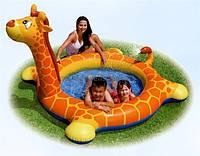 """Детский надувной бассейн Intex 57434 """"Жираф"""" с фонтаном 208*165*122см, бассейн для малышей, бассейн интекс"""