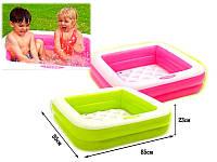 Детский надувной бассейн Intex 57100 85*85*23см, квадратный бассейн для ребенка, бассейн интекс для малышей