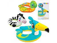"""Надувной круг """"Животные"""" Intex 59220 57*80см, детский надувной круг для плавания, круг для малышей"""