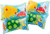 Нарукавники детские Intex 59650 19*19 см, надувные нарукавники для детей 3-6лет, нарукавники для плавания