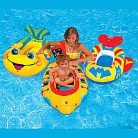 Детский надувной плотик лодочка Intex 59380 102*69см, детский водный плотик, плотик для плавания