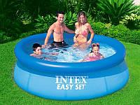 Надувной семейный бассейн Easy Set Intex 28122(56922) 305*76см, бассейн для дачы +насос-фильтр Интекс