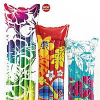 Надувной матрас Intex 59720 183*69см 3 цвета, надувной пляжный матрас, плавательный матрас, матрас Интекс