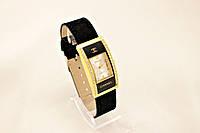 Женские часы CHANEL черные классические с камнями (копия)