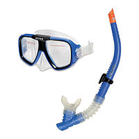 Набор для плавания маска+трубка Intex 55948, детский набор для подводного плавания Intex от 8 лет