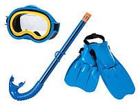Набор для плавания (маска + трубка + ласты) Intex 55952, набор подводного для плавания для детей от 8лет