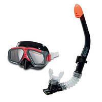 Набор для плавания (маска + трубка) Intex 55949, детский набор для подводного плавания от 8лет