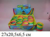 Игрушка Радуга MCS63-B, детская игрушка пружинка 27*20,5*6,5см, разноцветная детская пружинка игрушка