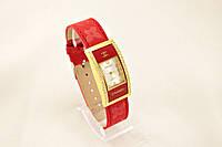 Женские часы CHANEL красные классические украшены камнями (копия)