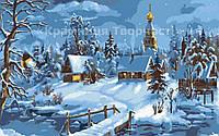 "Картина по номерам ""Деревенская зима"", 30х50см. (КН2213)"