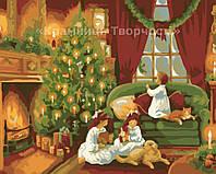 """Картина по номерам 'Рождественская ночь"""", 40х50см (КНО2214)"""