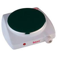 Настольная плита электрическая Saturn ST-EC1161, портативная плита 1-конфорочная, настольная электроплита