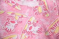 Распашонка тёплая Рукавичка Габби 0311 размер 56 р.56 розовый тигры