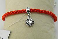 Бусина Эрцгамма серебряная для браслета типа Пандора