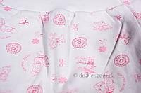 Ползунки тёплые для новорожденного размер 62 Карапуз  Габби 8105 р.62 белый розовые утята кружочки