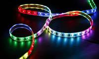 Светодиодная лента LED 5050 RGB (100), многоцветная led лента, лента для подсветки smd 5050 led rgb