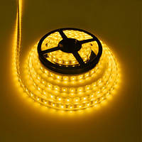 LED лента 5050 Y (40) желтого цвета, лента для подсветки smd 5050, светодиодная лента 5 метров