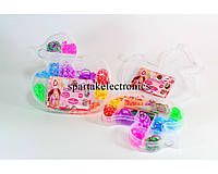 Набор резинок для браслетов Loom Band LB020, разноцветные резиночки для плетения loom bands