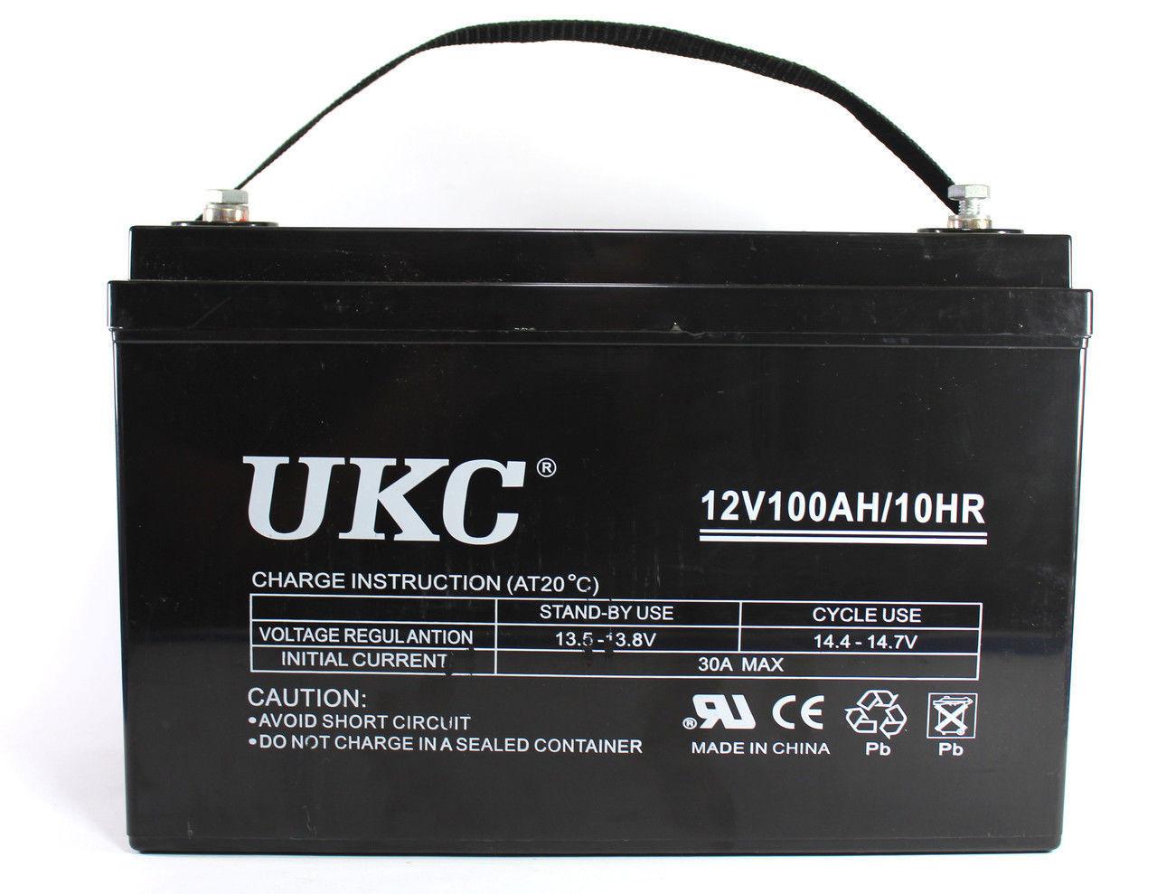 "Аккумулятор BATTERY GEL 12V 100A UKC, гелевый кислотно-свинцовый аккумулятор, аккумуляторная батарея - Интернет магазин ""24Argo"" в Днепре"