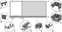 Фурнитура для ворот ALUTECH до 500 кг неоцинкованная