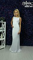 Модное вечернее платье с шлейфом