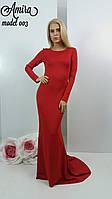 Изысканное вечернее платье из дайвинга и дорогого гипюра