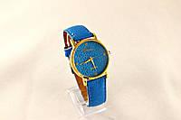 Женские часы Geneva Platinum синий электрик, циферблат узор цветы в Одессе
