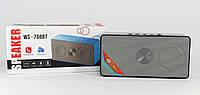 Портативная Вluetooth колонка MP3 WS-768 BT, музыкальная mp3 колонка с fm приемником, блютуз колонка