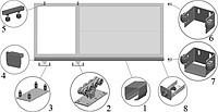 Фурнитура для ворот ALUTECH до 500 кг оцинкованная