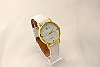 Женские часы Geneva Platinum (копия) Белые,циферблат узор цветы в Одессе
