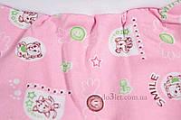 Ползунки с начесомдля новорожденного размер 68 Карапуз  Габби 8105 р.68 розовый зверята улыбки