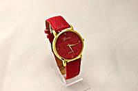 Женские часы Geneva Platinum (копия) Красные,циферблат узор цветы, в Одессе