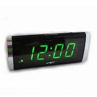 Светодиодные настольные часы VST-730, электронные часы с зелеными цифрами