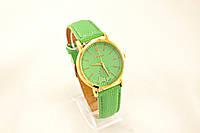 Женские часы Geneva  зеленые (копия) метки