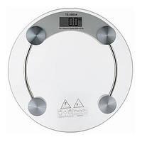 Весы электронные напольные ACS 2003A, круглые весы на батарейках, весы напольные 150 кг