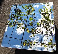 Зеркальная плитка зеленая, бронза, графит 200*300 фацет 15мм.плитка с фацетом.плитка зеркальная купить., фото 1