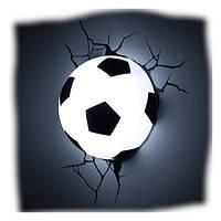 Ночник футбольный мяч 3D football light, оригинальный ночник 3D