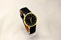 Женские часы Geneva  черные (копия) метки