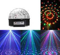 Диско-шар Musik Ball MP2, светодиодный диско шар, светомузыка для вечеринок, зеркальный шар