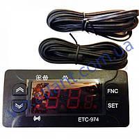 Контроллер температуры ETC-974 (полный аналог Eliwell ID-974, 2 датчика)