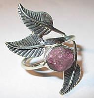 "Серебряное колечко с розовым турмалином ""Роза"", размер 17,8, фото 1"
