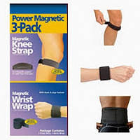Магнитные браслеты на колени и запястье POWER MAGNETIC SPORT 3406, лечебные магнитные пластины